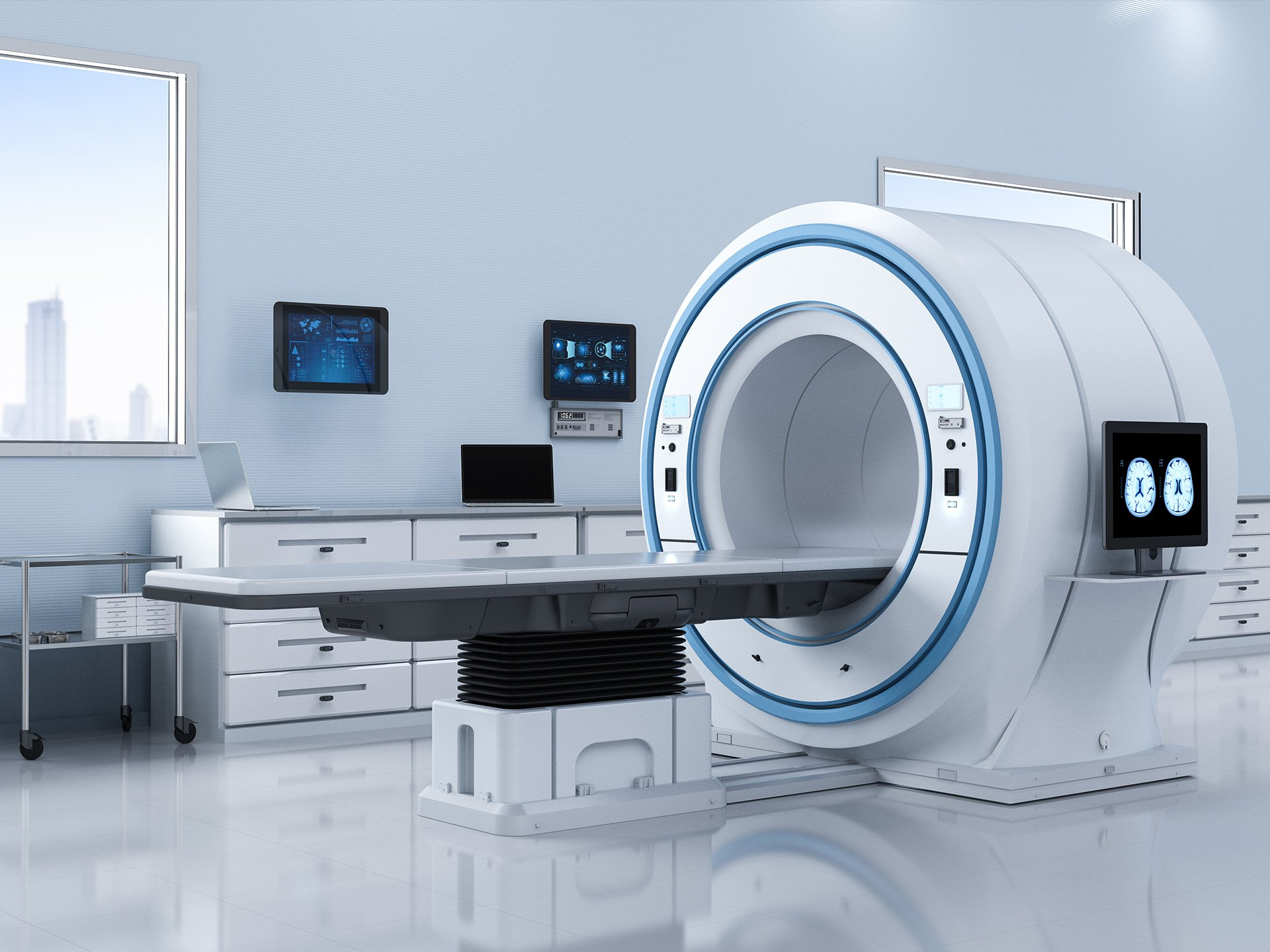 3D-Rendering Medizintechnik MRT Gerät