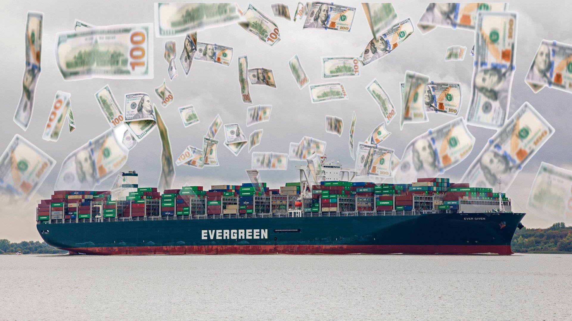 Aufnahme des Frachtschiffs Ever Given im Jahr 2019